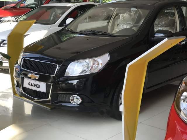 Cần bán Chevrolet Aveo năm 2018, màu đen, khuyến mãi 80tr