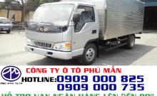Xe tải JAC 2.4 tấn, thùng dài 3m7 giá 255 triệu tại Tp.HCM